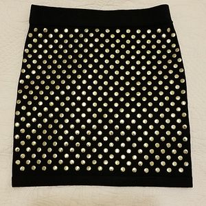 Forever 21 Exclusive Studded Knit Mini Skirt